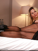 Desyras Nylon Sex :: Desyra Noir Sexy German MILF In Stockings And Pantyhose Sex