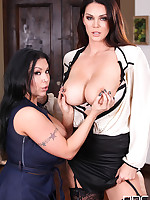 Curvy Satisfaction - Voluptuous Lesbians Make Titties Shake free photos and videos on DDFBusty.com
