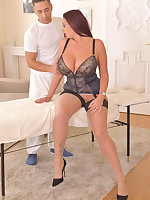 A Happy Ending Office Massage: Busty Babe Fucked Hard free photos and videos on DDFBusty.com